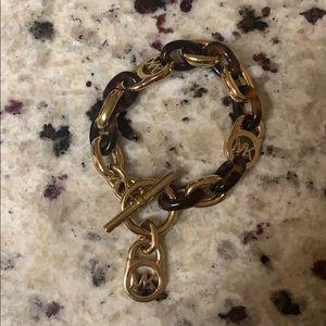 Michael Kors Gold Tort Chain Bracelet